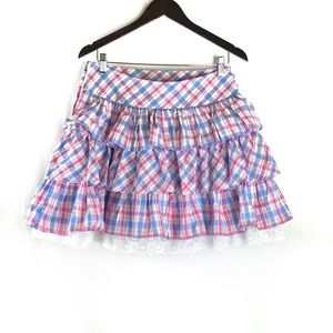 Bodyline Plaid Lolita Western Costume Skirt